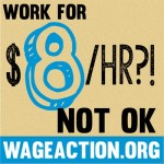 1 of 20 creative products for #WageAction effort